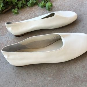 Vince Shoes - Vince White Soft Leather Slip On Ballet Flats